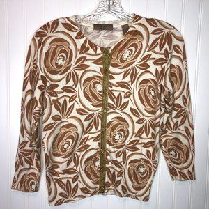 i.e. Petite Cardigan Tans, Browns, 3/4 Sleeves